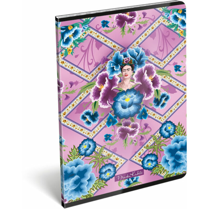 Füzet tűzött A/4 kockás 87-32 Frida Kahlo Púrpura