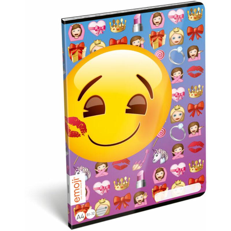 Füzet tűzött A/4 vonalas 81-32 Emoji Girls