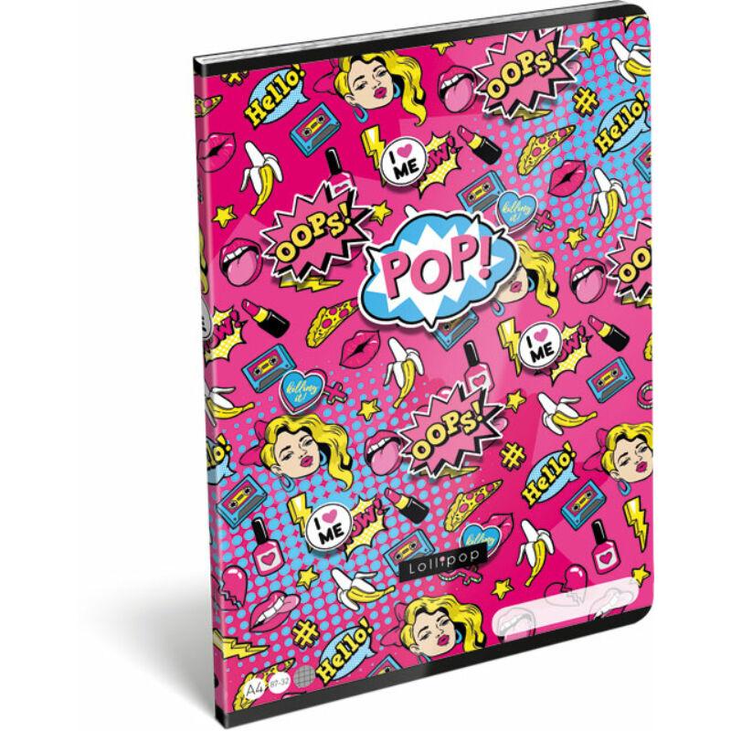 Füzet tűzött A/4 kockás 87-32 FSC Lollipop POP