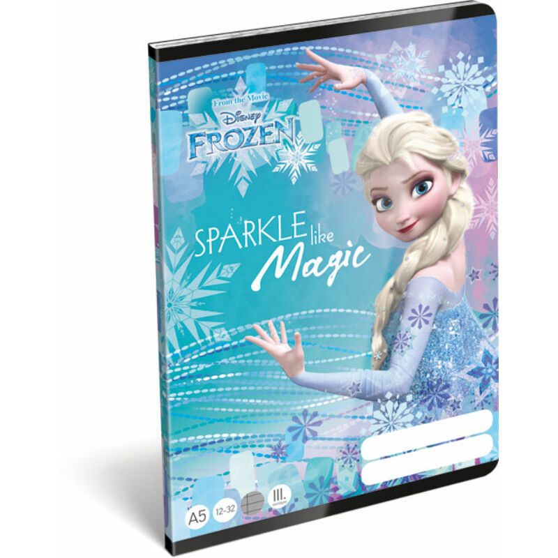 Füzet tűzött A/5 3.o. 12-32 Frozen Magic