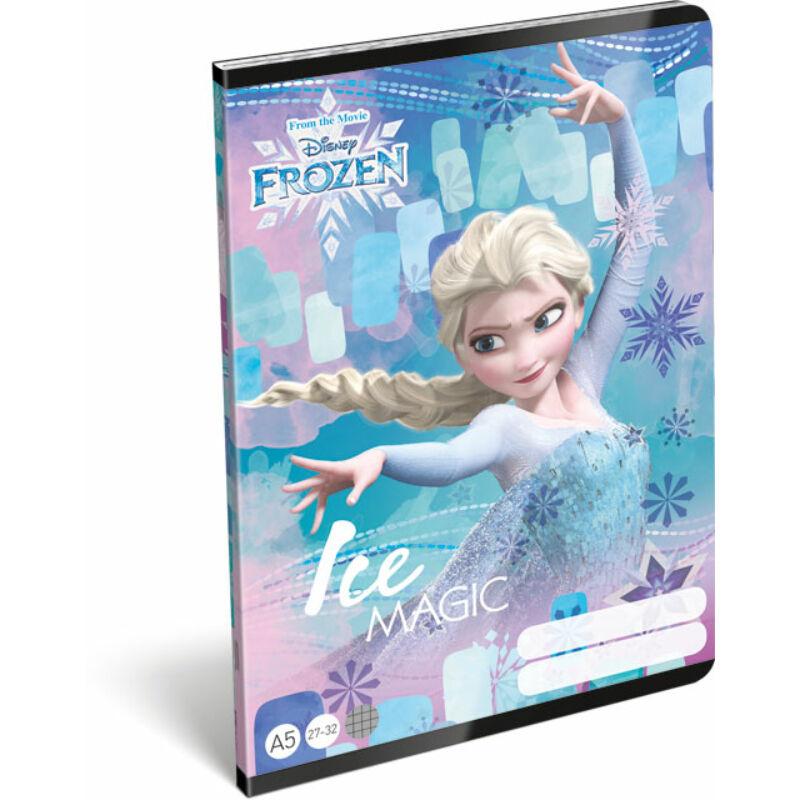 Füzet tűzött A/5 kockás 27-32 Frozen Magic