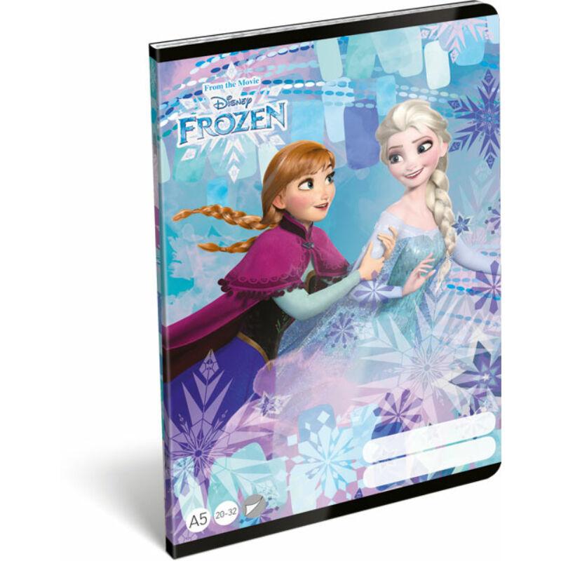 Füzet tűzött A/5 sima 20-32 Frozen Magic