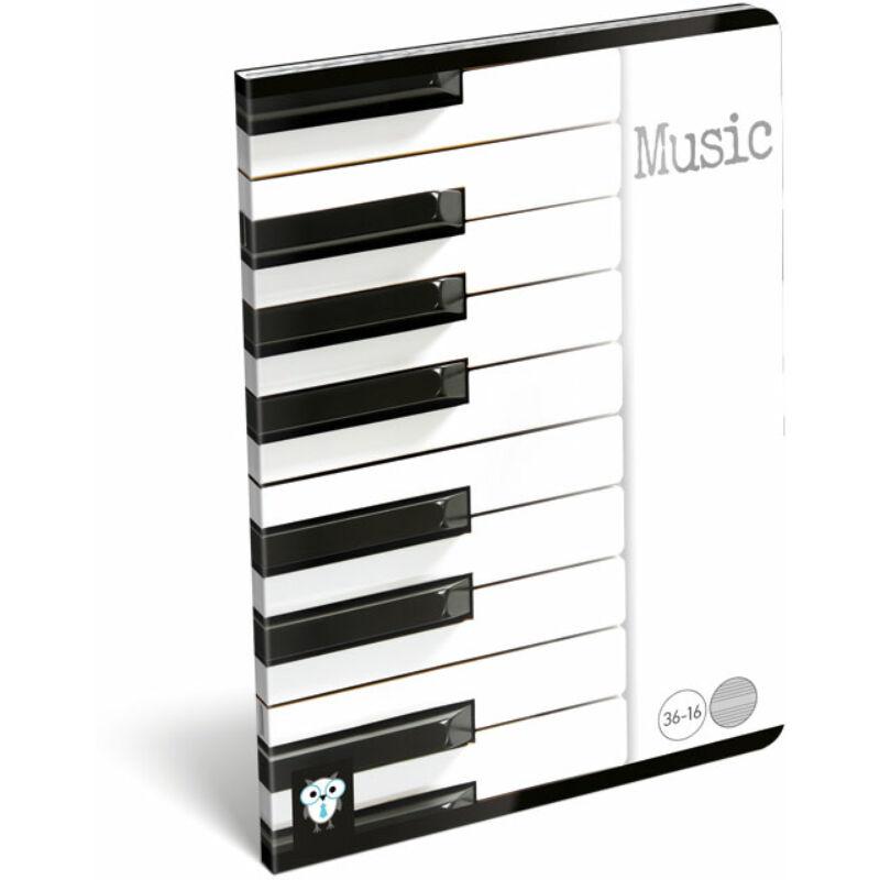 Hangjegyfüzet A5 Kis bagoly Music Piano 36-16