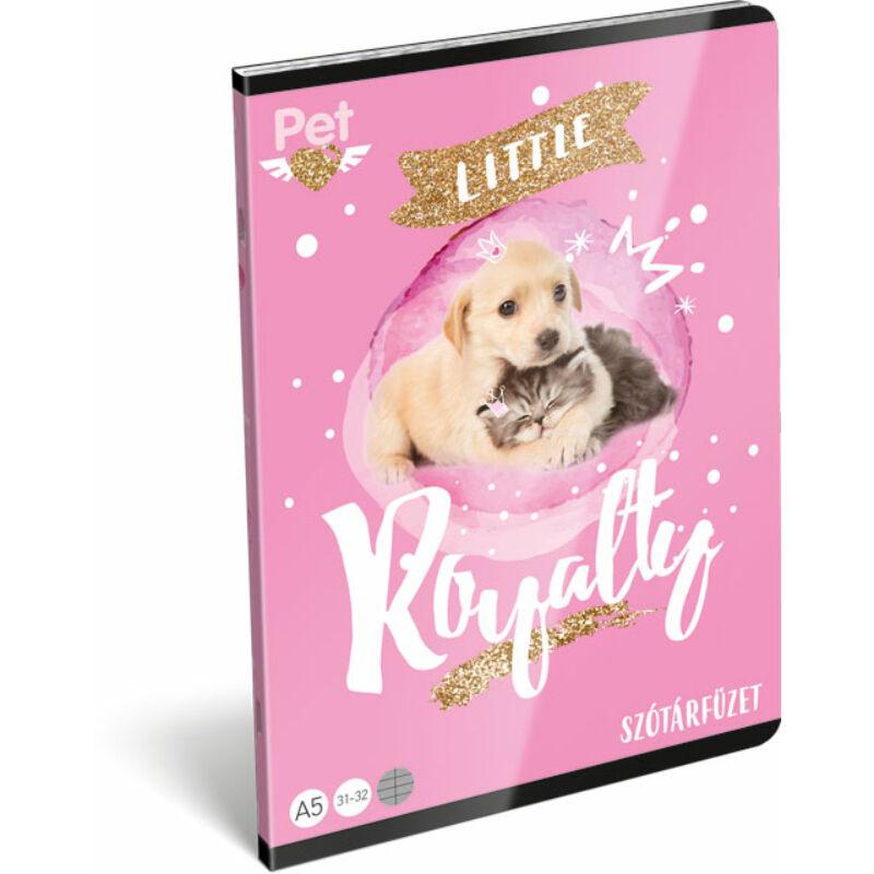 Füzet tűzött A/5 szótár 31-32 Little friends Pink