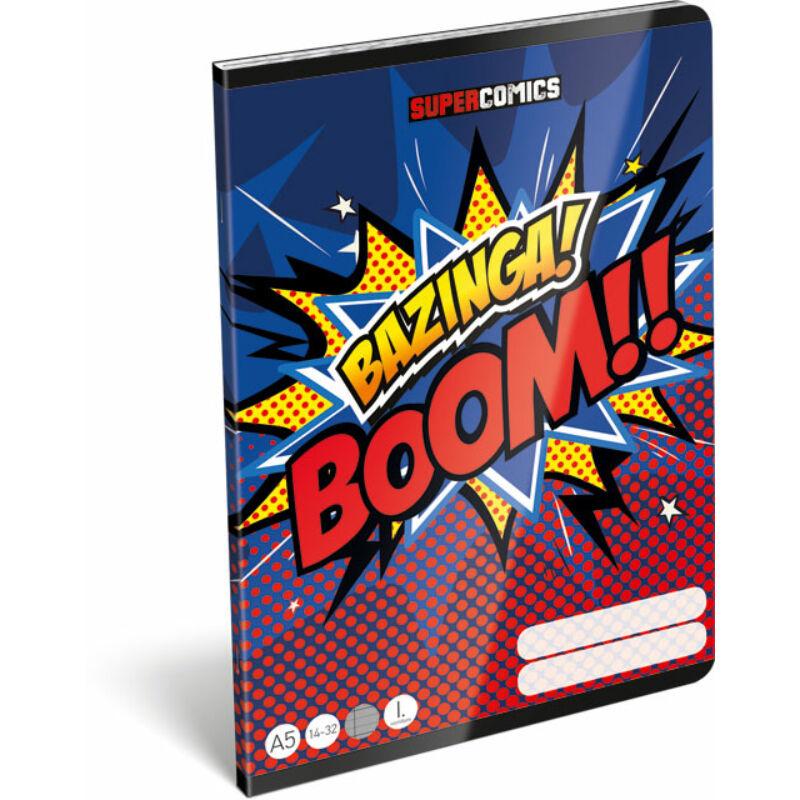 Füzet tűzött A/5 1.o. 14-32 FSC Supercomics Bazinga